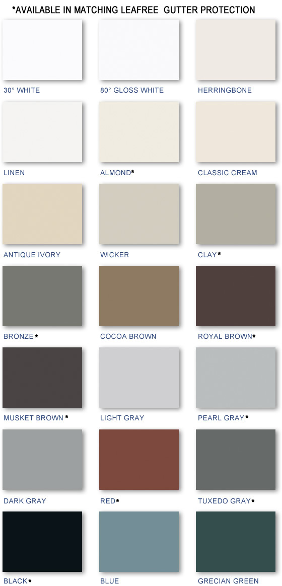 Wilco Gutters Color Chart